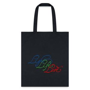 Light Life Love RGB Script I - Tote Bag