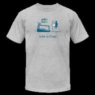 T-Shirts ~ Men's T-Shirt by American Apparel ~ Treadmill Wall Crash  - Mens T-Shirt by American Apparel