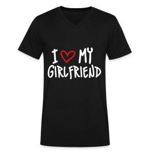 I love my girlfriend - Men's V-Neck T-Shirt by Canvas