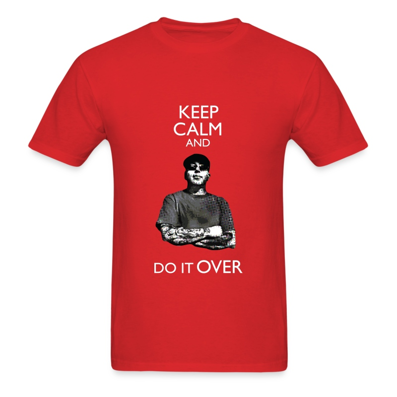 Keep Calm and Do it Over (Boyish Tee) - Men's T-Shirt