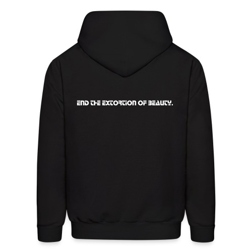 Beauty Extortion Hoodie (White Text) - Men's Hoodie