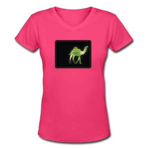 Camel Walk - V-Neck - Women's V-Neck T-Shirt