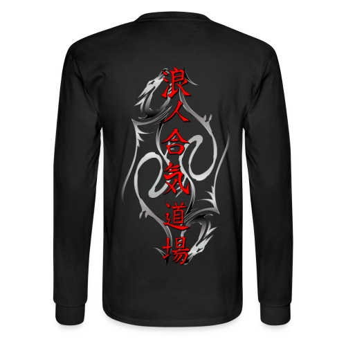 Long Sleeve T-Shirt with Double Dragons - Men's Long Sleeve T-Shirt