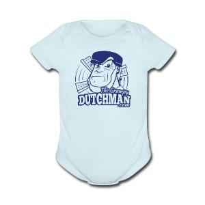 Grumpy Logo (Single Color) - Short Sleeve Baby Bodysuit