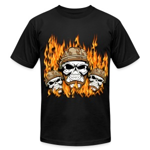 Army Skulls - Men's T-Shirt by American Apparel