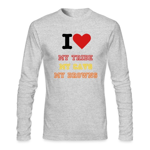 Cleveland Love - Men's Long Sleeve T-Shirt by Next Level