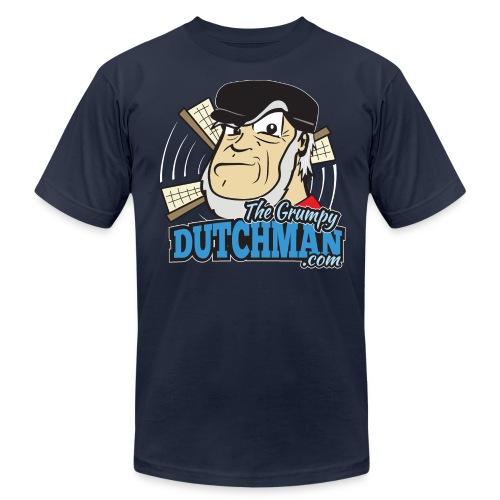 Gumpy's Logo Shirt (Front)  White Outline for Dark Shirts - Men's  Jersey T-Shirt