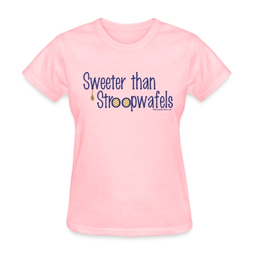 Stroopwafels (with blue lettering for lighter shirts) - Women's T-Shirt