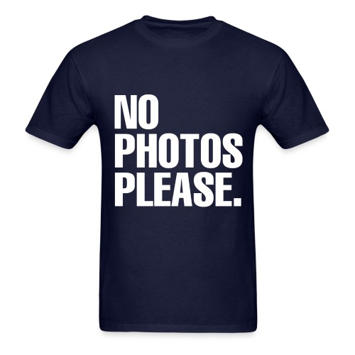 NO PHOTOS PLEASE. T-SHIRT (MEN) - Men's T-Shirt