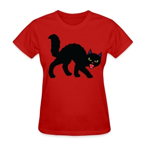 Black Halloween Cat - Women's T-Shirt
