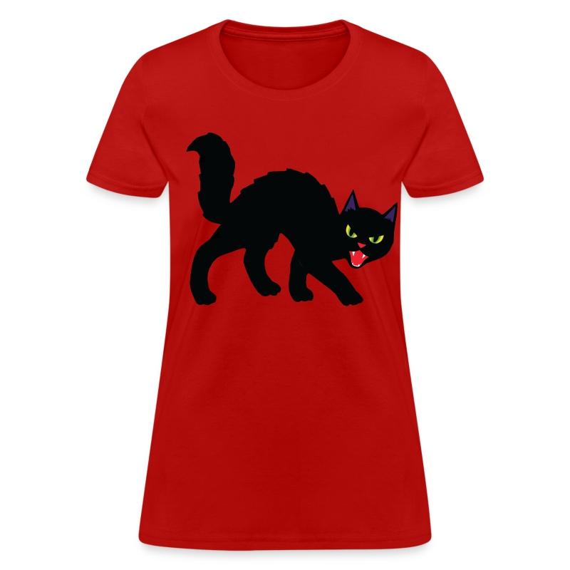 Black Halloween Cat - Women's T-Shirt