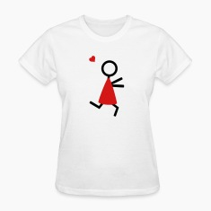 partner shirt couple runs to each other Women's T-Shirts