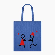 partner shirt couple runs to each other Bags & backpacks