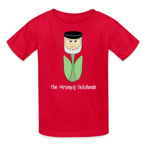 Grumpy Tulip (with white lettering for darker shirts) - Kids' T-Shirt