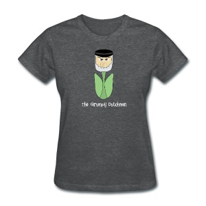 Grumpy Tulip (with white lettering for darker shirts) - Women's T-Shirt
