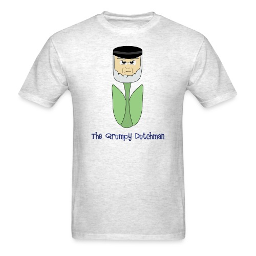 Grumpy Tulip (with blue lettering for lighter shirts) - Men's T-Shirt
