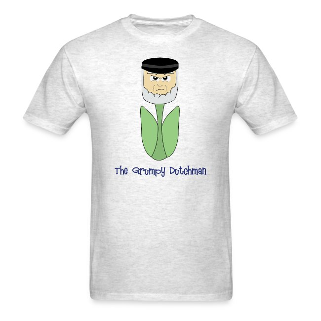 Grumpy Tulip (with blue lettering for lighter shirts)