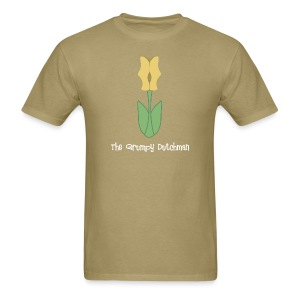 Shoe Tulip (with white lettering for darker shirts) - Men's T-Shirt