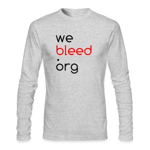webleed.org long sleeve t - Men's Long Sleeve T-Shirt by Next Level