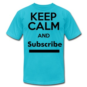 Keep Calm , Subscribe Shirt. - Men's T-Shirt by American Apparel