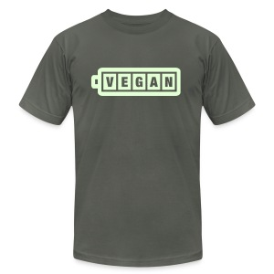 Vegan Power: Glow in the Dark - Men's T-Shirt by American Apparel