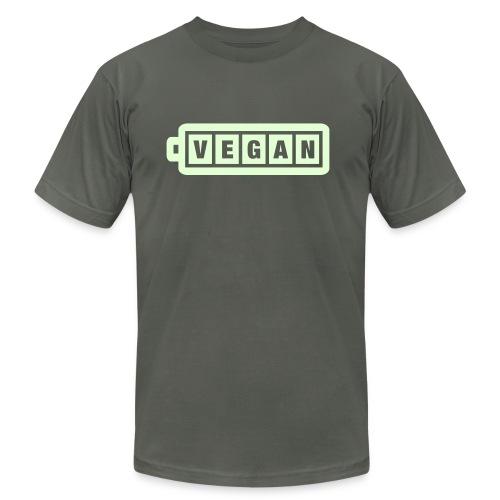 Vegan Power: Glow in the Dark - Men's Fine Jersey T-Shirt
