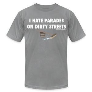 Parades (with white lettering for dark shirts) - Men's T-Shirt by American Apparel