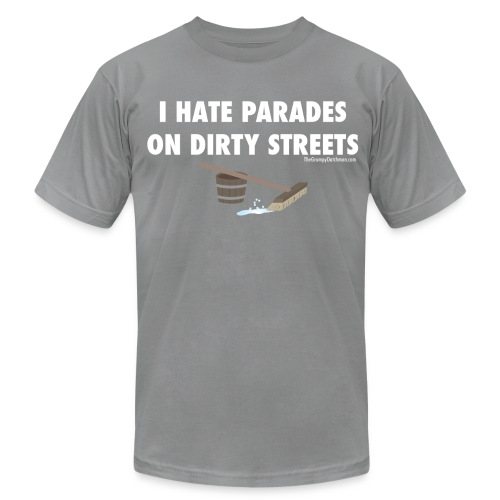 Parades (with white lettering for dark shirts) - Men's Jersey T-Shirt