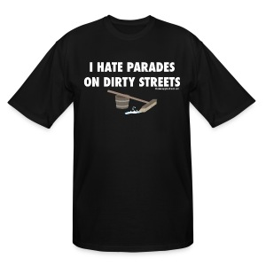 Parades (with white lettering for dark shirts) - Men's Tall T-Shirt