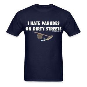 Parades (with white lettering for dark shirts) - Men's T-Shirt