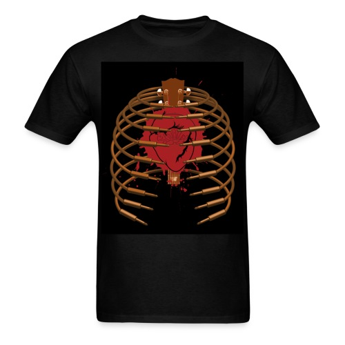 Cable Rib Cage on black - Std Shirt - Men's T-Shirt