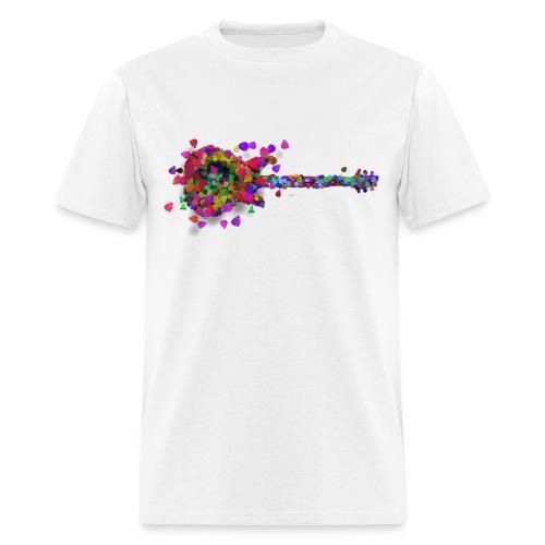 Exploding Picks on White - Std Shirt - Men's T-Shirt