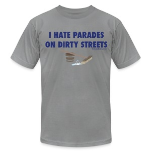 Parades (with blue letters for lighter shirts) - Men's T-Shirt by American Apparel