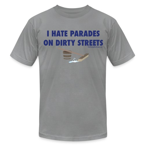 Parades (with blue letters for lighter shirts) - Men's Fine Jersey T-Shirt