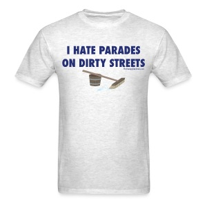 Parades (with blue letters for lighter shirts) - Men's T-Shirt