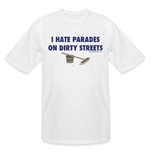Parades (with blue letters for lighter shirts) - Men's Tall T-Shirt