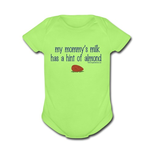 Mommy's Milk (with white letters for darker shirts) - Organic Short Sleeve Baby Bodysuit