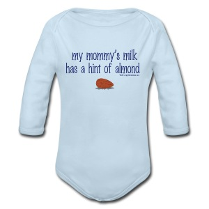 Mommy's Milk (with white letters for darker shirts) - Long Sleeve Baby Bodysuit