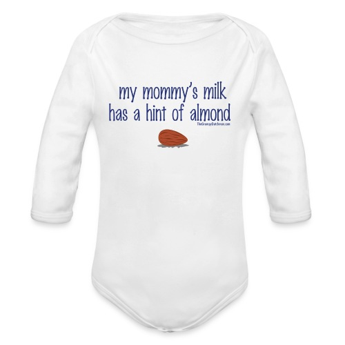 Mommy's Milk (with white letters for darker shirts) - Organic Long Sleeve Baby Bodysuit