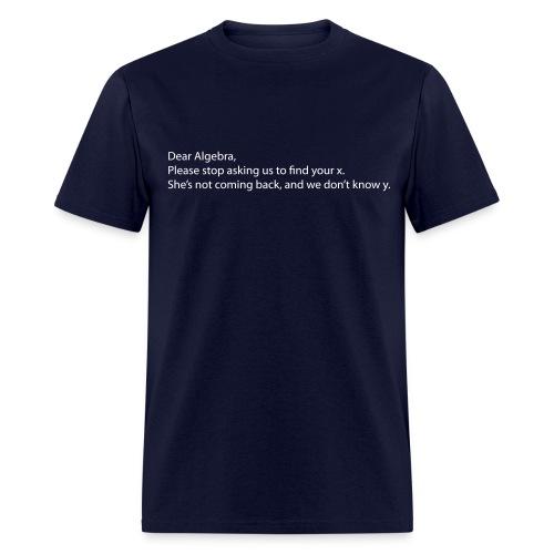 Dear Algebra - Men's T-Shirt