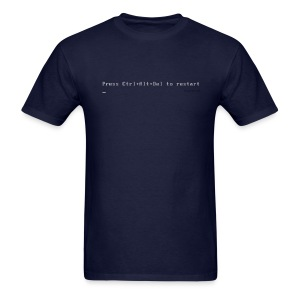 Press Ctrl+Alt+Delete to restart (navy) - Men's T-Shirt