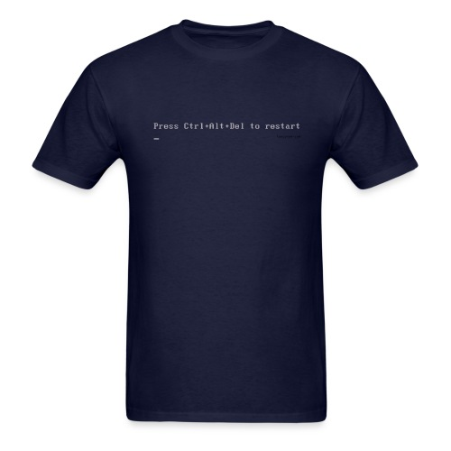Press Ctrl+Alt+Delete to restart (navy) - Men's T-Shirt