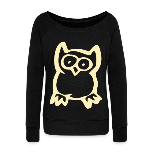 ...because owls are cute - Women's Wideneck Sweatshirt