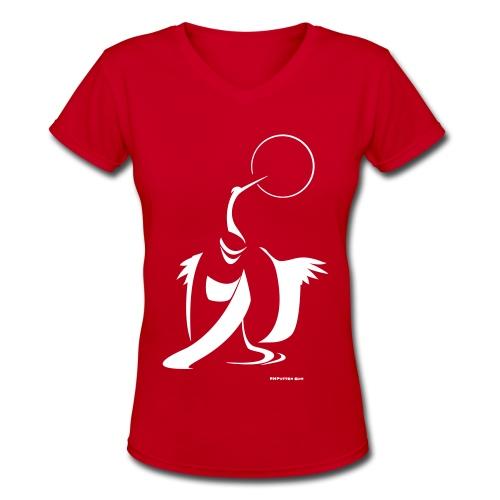 Kimono Crane - Women's V-Neck T-Shirt