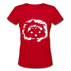 Little Hedgehog - Women's V-Neck T-Shirt