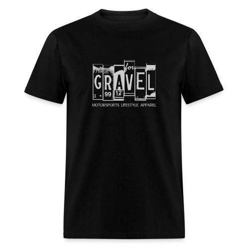 Gravel License Plate T-Shirt - Men's T-Shirt