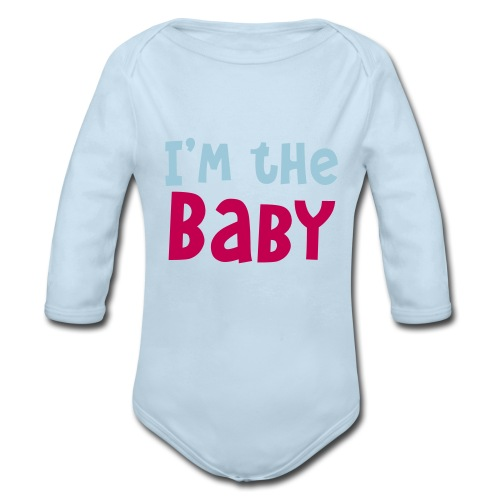 Boy's One Piece (Blue) - Organic Long Sleeve Baby Bodysuit