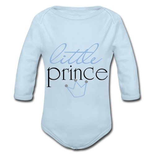 Little Prince One Piece (Boy) - Organic Long Sleeve Baby Bodysuit