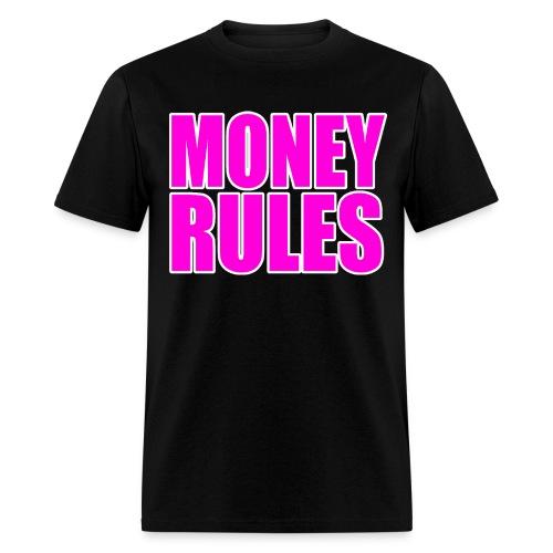 Money Rules Macho Pink - Men's T-Shirt