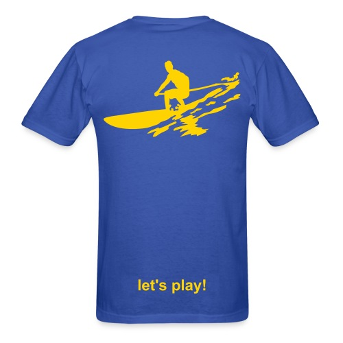 Let's Play! SUP Men's Lightweight T - blue/lemon - Men's T-Shirt